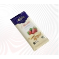 White chocolate, strawberry and cookie